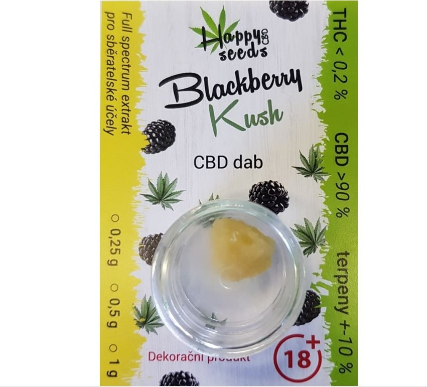 Happy seeds CBD dab (CBD>90%) Blackberry Kush