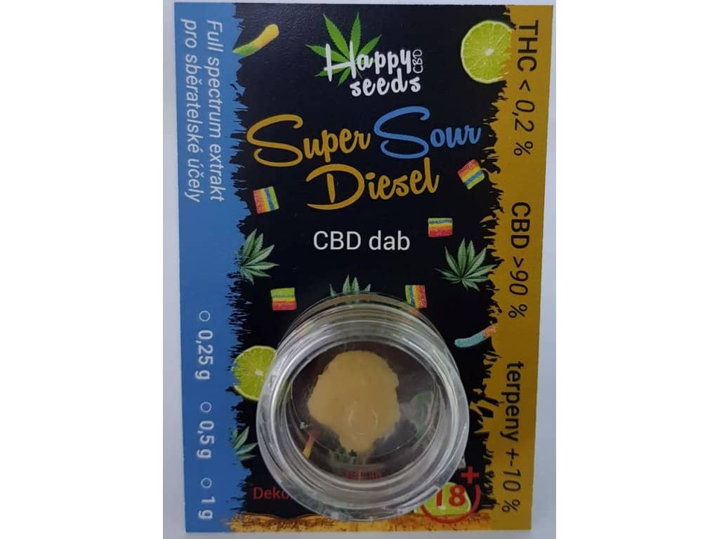 Happy seeds CBD dab (CBD>90%) Super Sour Diesel