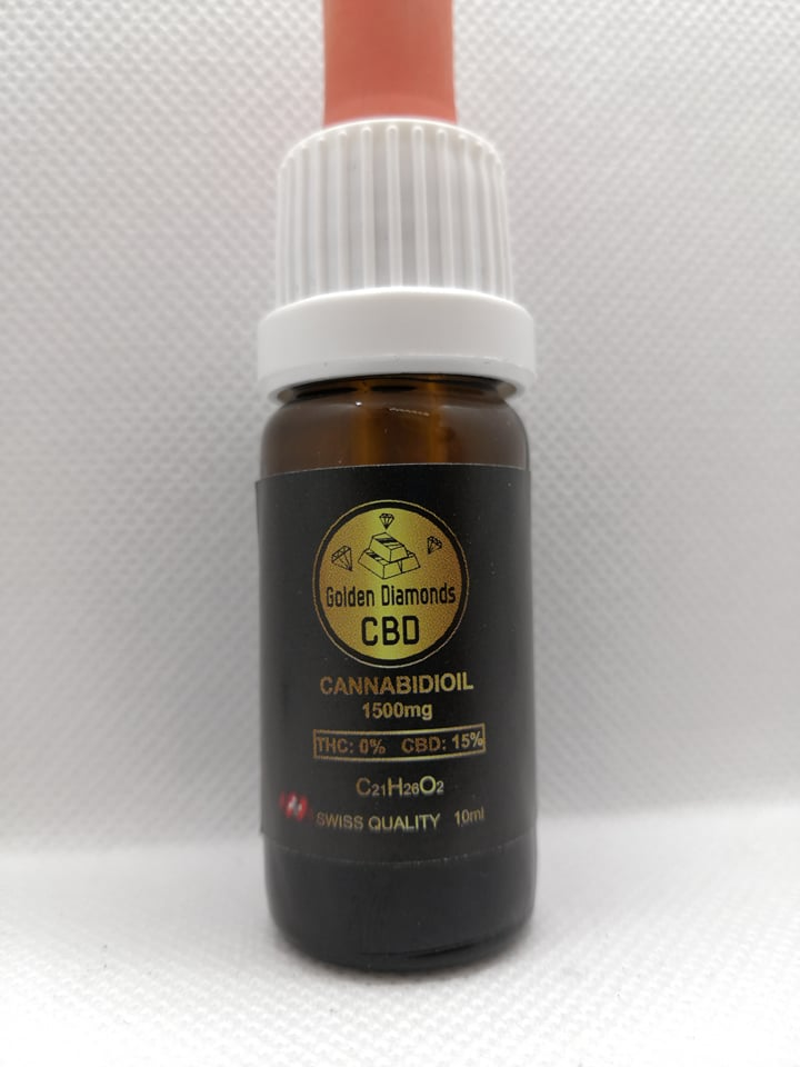 Golden Diamonds CBD olej 15%, 10ml